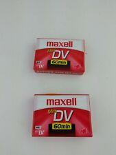 Maxell Mini DV Cassette Lot Of 2 Sealed Recorder
