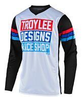 Troy Lee Designs 2020 GP Carlsbad Jersey - White / Black - Motocross