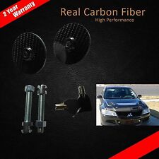 1 SET HOOD BONNET CARBON FIBER LOCK PIN LATCH FOR RACING SPORTY LOOK+KEY