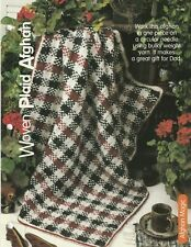 Knitting Pattern ~ Woven Plaid Afghan ~ Instructions