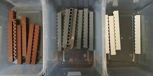 Lego Brick 1 x 12 Part No: 6112 In Dark grey brown white  Qty of 18 Ref:D10