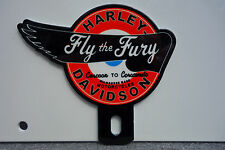 "License Plate Topper HARLEY DAVIDSON MOTORCYCLES RUN  Fly the Fury 3""  3 1/4"""