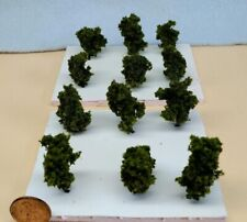 Z SCALE - HAND CRAFTED TREEZ - Olive Green -Correct Sized for Z Scale- 12 Pack a