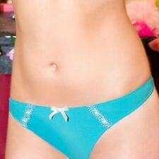 New Cleo by Panache Lingerie Charlie thong 5179 Turquise 12/M SALE