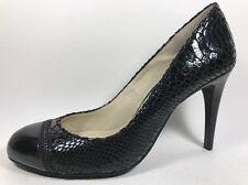 Michael Kors Black Snake Print Leather Pumps Women's Sz 7.5 M High Heel