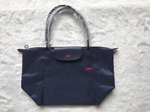 NEW Longchamp Le Pliage Navy Blue tote bag Large L For Women