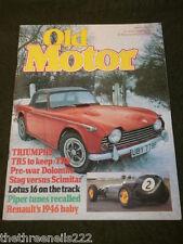 OLD MOTOR - TRIUMPH TR5 - MARCH 1982
