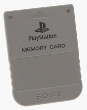 Playstation 1 Memory Card original Sony color gris PS1 PSOne JAP