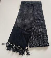 Vintage Style Black & White Polka Dot Silk Scarf Cravat by Peckham Rye