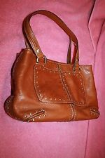 Used Michael Kors Light Brown Leather Studded Purse Handbag