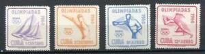 29743) .cu Ba. 1960 MNH Neu Olympic Games Rome 4v