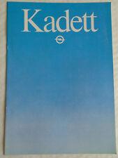 OPEL Kadett BROCHURE GAMMA Jan 1982 TESTO ITALIANO