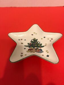 "NIKKO Japan 6"" CHRISTMASTIME Tray Plate Dish Mints Candy Holiday Star Shaped"