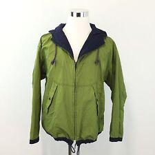 Vtg 90s GAP Mens Windbreaker Jacket Zip Front Lightweight Hooded Nylon Coat Sz S
