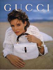 PUBLICITE ADVERTISING 094  1992  GUCCI   collection sacs