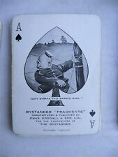 More details for vintage ww1 era full deck of old bill better ole playing cards by bairnsfather
