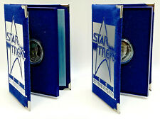 1991 Star Trek 25th Anniversary .999 Silver 1oz Matching Number Coin set of 2