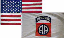 3' X 5' 3x5 82nd Airborne Division Flag + USA American Flag Flags WHOLESALE LOT