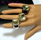 Unusual Rare Red Carpet Large Cut Austrian Crystal Cocktail Statement Ring Watch
