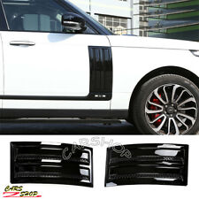 For Range Rover Vogue L405 Black SVO Door Side Fender Vent Grille Trim Molding