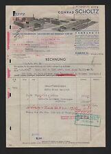 HAMBURG, Rechnung 1940, Conrad Scholtz AG Fabrik für Förderbänder Elevatorgurte