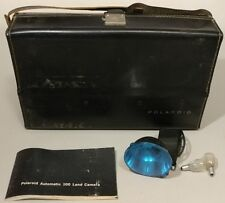 Vintage -Polaroid Automatic 100 Land Camera Case, Manual, Flash -NO Camera -READ