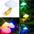 Romantic Mini Mushroom Night Light Sensor Home Decor Baby Room Bed Lamp US/EU