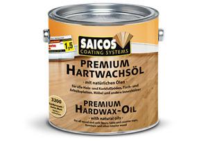 Saicos Hartwachsöl Premium 2,5 Liter verschiedene Farben möglich
