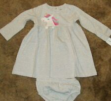 Girls Carter's Nwt pink long sleeve striped baby doll dress size 6 months