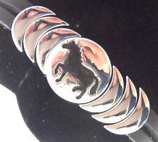 "Epic Spirit Bracelets Wheeler Horse Leather & Pewter Clasp Magnetic 7.5"" wcb 712"