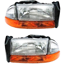 FIts 98-04 Dodge Dakota Left & Right Composite Headlamp w/park signal lamp-pair