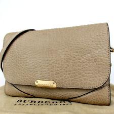 Authentic BURBERRY ROSCROM215CRA Logo Hardware Shoulder Bag Calfskin[Used]