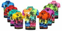 KIDS CHRISTMAS SANTA XMAS HAWAIIAN CHILDREN SHIRT HAWAII GIFT PARTY  S -XXL D9