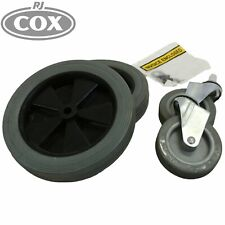 Replacement wheel and castor set to suit Sabco 2016 Janitor Cart
