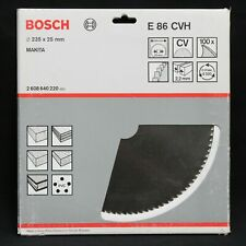 Bosch E86CVH 235mm x 25mm 100T CV Circular Saw Blade for Wood. Made in the UK