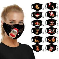 Weihnachts-Weihnachtsmann-Druck-Mundmaske Atmungsaktive waschbare Maske