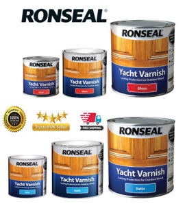 Ronseal Yacht Varnish  Exterior Long Lasting - ALL SIZES