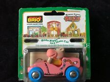 Rare BRIO Richard Scarry Busytown Hilda Hippo & Skate Car 32514-New in Package!