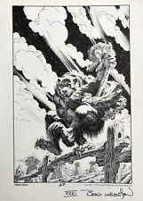 BERNIE WRIGHTSON rare TEDDY BEAR print SIGNED 1978 NCS Portfolio AP Last ONE!