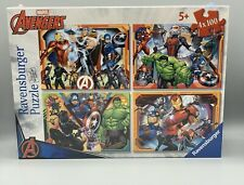 MARVEL AVENGERS 4 X 100 PIECE SEALED JIGSAW PUZZLE (RAVENSBURGER)