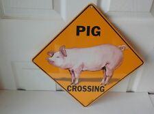 Crosswalks Pig Crossing Aluminum Sign - Made in Usa