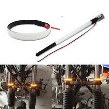 New Motorcycle Fork Turn Signal Light Amber LED Strips For Harley Honda Custom