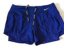 Ladies NIKE RUNNING 2 in 1 Shorts Dri Fit Size XL