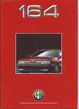 Alfa Romeo 164 T Spark V6 Volumatik Quadrifoglio German Brochure Prospekt 1992