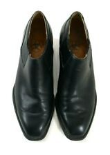Ariat Womens Western Black Leather Slip On Ankle Boots Dress Shoes Size 9 B