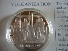 VULCANIZATION MANKIND INVENTIONS HALLMARKED SILVER PROOF MEDAL BY J PINCHES