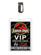 Jurassic Park VIP Visitor Pass ID Badge Card Cosplay Film Prop Comic Con