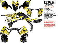 DFR SUBCULTURE GRAPHIC KIT BLACK/YELLOW SIDES/FENDERS SUZUKI LTR450 LTR 450