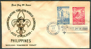 1959 Philippines Commemorating 10th World Jamboree First Day Cover B
