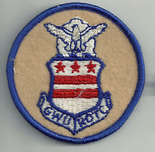 VINTAGE GEORGE WASHINGTON UNIVERSITY AIR FORCE R.O.T.C. EMBROIDERED WOOL PATCH